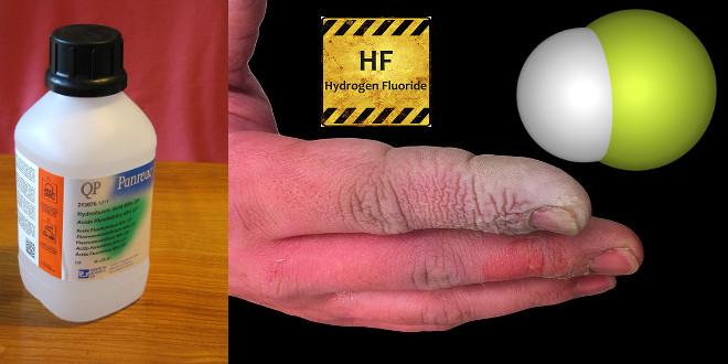 اثر هیدروفلئوریک اسید بر بدن