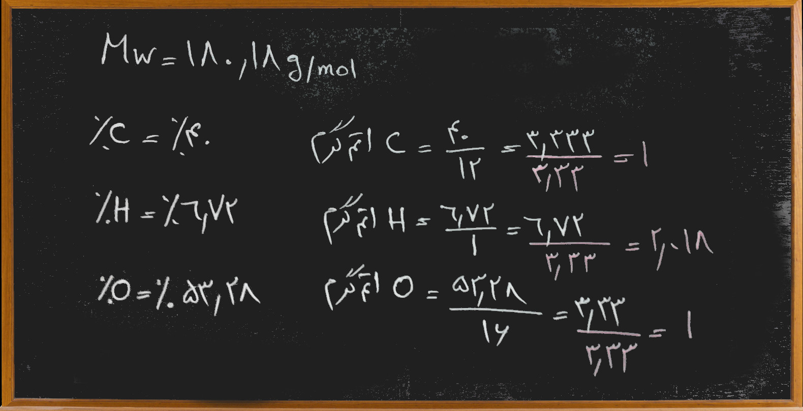 بدست آوردن فرمول مولکولی